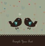 Achtergrond met vogels Royalty-vrije Stock Afbeeldingen