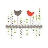 Achtergrond met vogels. Vector illustratie Stock Foto's