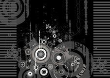 Achtergrond met vormen, vector vector illustratie
