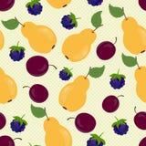 Achtergrond met vruchten Royalty-vrije Stock Foto