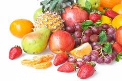 Achtergrond met vruchten Royalty-vrije Stock Foto's