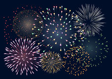 Achtergrond met vuurwerk Royalty-vrije Stock Afbeelding