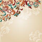 Achtergrond met wervelingen en bladeren Royalty-vrije Stock Foto's