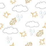Achtergrond met wolken en liaves Royalty-vrije Stock Foto's