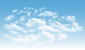 Achtergrond met wolken op blauwe hemel vector illustratie