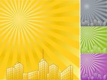 achtergrond met wolkenkrabbers Royalty-vrije Stock Afbeeldingen