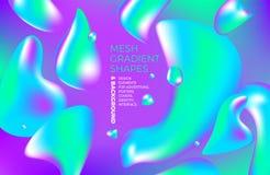 Achtergrond multicolored abstracte vector holografische gradiënt 3D achtergrond met cijfers en voorwerpen voor Web, verpakking, a vector illustratie