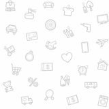 Achtergrond, naadloos, wit, goederencategorie, online opslag Stock Fotografie