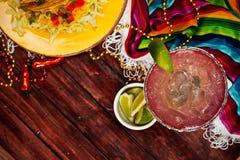 Achtergrond: Nadruk op Rotsen Margarita Drink Stock Foto