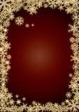 Achtergrond nieuwe jaar gouden sneeuwvlokken Stock Afbeeldingen
