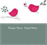 Achtergrond ontwerp met vogels. Stock Afbeeldingen