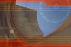 Achtergrond Ontwerp in Sinaasappel en Blauw Royalty-vrije Stock Afbeelding
