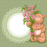 Achtergrond op de Dag van Valentijnskaarten Stock Foto's