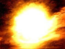 Achtergrond op hoge temperatuur (in ruimte) Stock Foto's