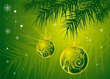 Achtergrond op Kerstmis Stock Fotografie