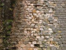 Achtergrond oude bakstenen muurtextuur wijnoogst Stock Afbeelding