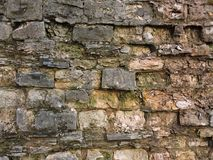 Achtergrond oude bakstenen muurtextuur wijnoogst Royalty-vrije Stock Foto's
