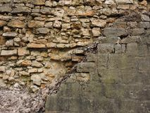 Achtergrond oude bakstenen muurtextuur wijnoogst Royalty-vrije Stock Afbeelding