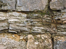 Achtergrond oude bakstenen muurtextuur wijnoogst Stock Foto