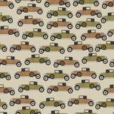 Achtergrond oude beeldverhaal retro auto Stock Afbeeldingen