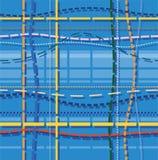Achtergrond, patronen, de blauwe steken, Royalty-vrije Stock Fotografie