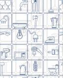 Achtergrond, patronen, hulpmiddelen, huishoudengoederen Royalty-vrije Stock Afbeeldingen
