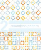 Achtergrond, patroon, gele, blauwe vierkanten Royalty-vrije Stock Foto's
