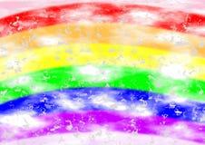 Achtergrond in regenboogkleuren Stock Afbeelding