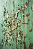 Achtergrond, roest op een metaalplaat Stock Afbeeldingen