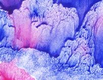Achtergrond, roze en blauw Stock Foto's