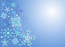 Achtergrond Sneeuwvlok, vector Royalty-vrije Stock Foto's