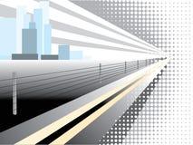 Achtergrond stad Stock Illustratie