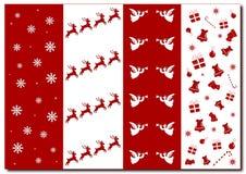 Achtergrond - symbolen van Kerstmisklokken, engelen vector illustratie