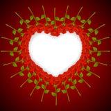 Achtergrond tegen de dag van de Valentijnskaart royalty-vrije illustratie