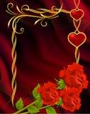 Achtergrond tegen de dag van de Valentijnskaart stock illustratie
