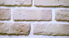 Achtergrond textuur beige-roze de stijlbakstenen muur van de baksteenzolder stock video