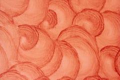 Achtergrond, Textuur Patronen bruine die verf op de muur door een grote borstel wordt toegepast stock afbeeldingen