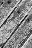 Achtergrond Textuur - patroon/ontwerp van hout, klinknagels en roest! royalty-vrije stock foto