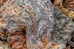 Achtergrond, textuur, patroon van vulkanische lava Stock Foto's