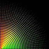 Achtergrond, textuur, samenvatting De gekleurde cirkels, ballen op een zwarte achtergrond is geïsoleerd vector illustratie