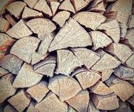Achtergrond of textuur van brandhout wordt gemaakt dat Royalty-vrije Stock Afbeeldingen