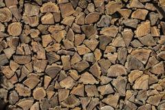 Achtergrond, textuur van de muur van de gevouwen logboeken stock fotografie