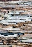 Achtergrond - textuur van de muur van de kleurensteen. Stock Fotografie