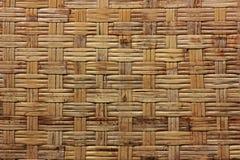 Achtergrond textuur van droge geweven bamboe houten kleur Stock Foto