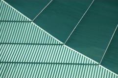 Achtergrond textuur van een groen dak stock foto's
