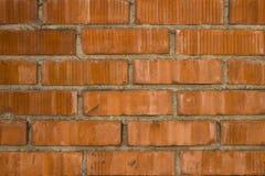 Achtergrond, textuur van een rode bakstenen muur stock fotografie