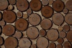 Achtergrond - textuur van gesneden boomringen stock afbeelding