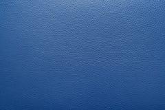 Achtergrond of textuur van het middernacht de de blauwe leer Royalty-vrije Stock Foto