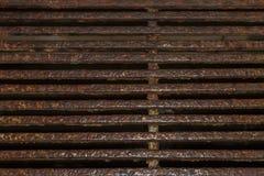 Achtergrond, textuur van het oude regenrooster royalty-vrije stock fotografie