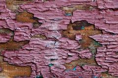 Achtergrond, textuur van oud houten blad met schilverf stock foto